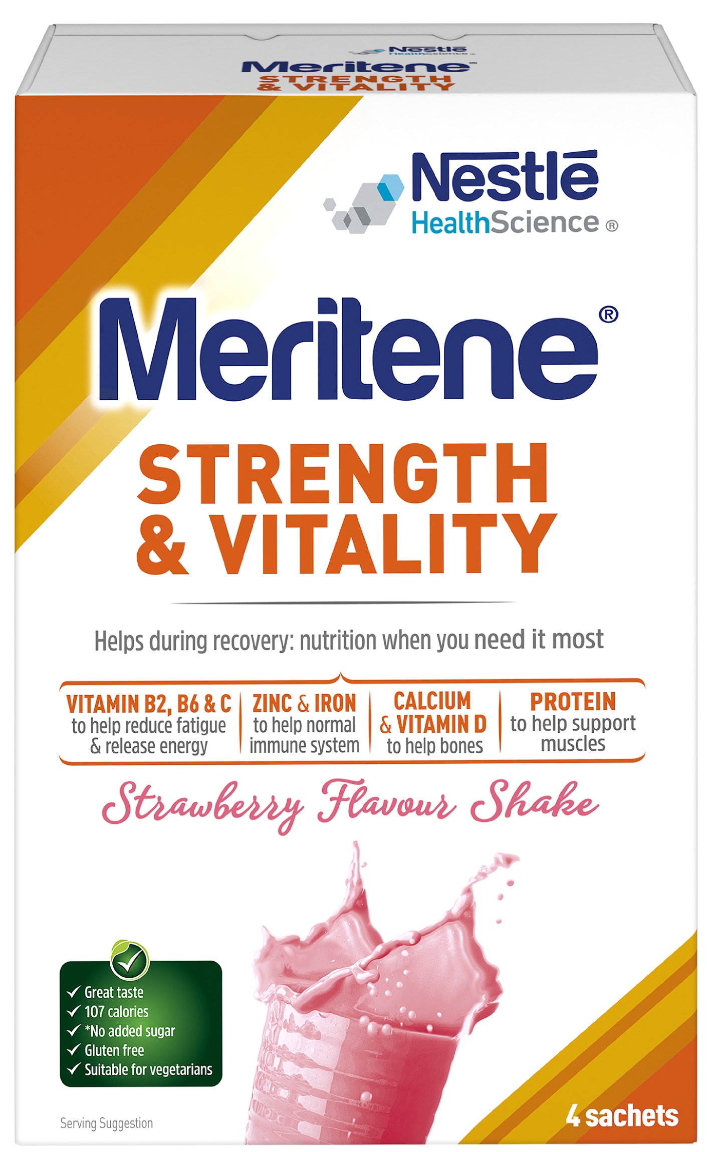 Strength & Vitality strawberry shake